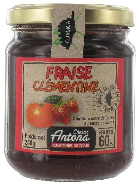 Confiture de Fraise-Clémentine, 250gr