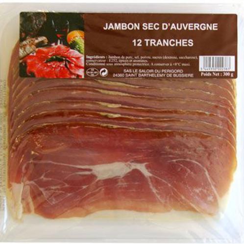 Jambon sec d'Auverge 12 tranches - 300 g