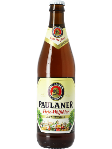 Bière blanche 5.5° 50 cl, Paulaner Weissbier, carton de12 bouteilles