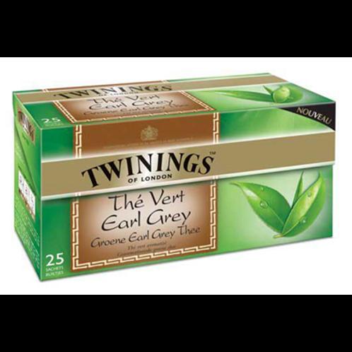 Thé vert Earl Grey 25 sachets Twinings