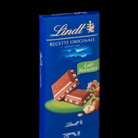 Tablette recette originale lait noisette 2 x 100 g Lindt