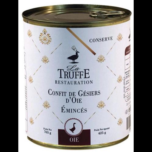 Confit de gésiers d'oie émincés 4/4 La truffe Restaurant, 760g