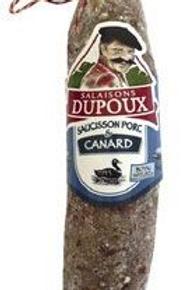 Saucisson porc canard 200 g Salaisons Dupoux
