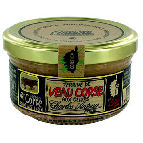 Terrine de veau de corse aux olives 140 G