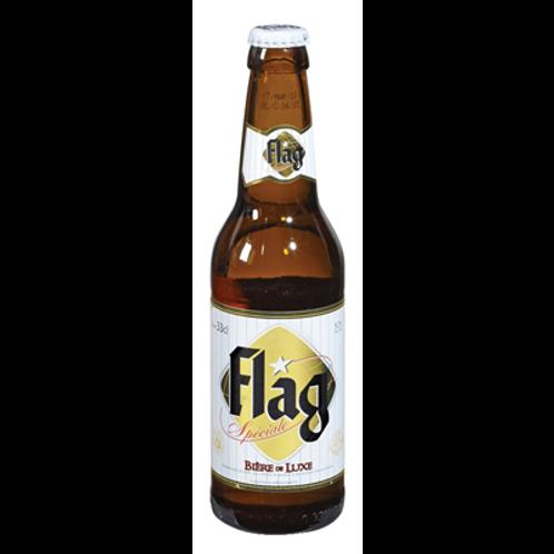 Bière blonde du Togo 33 cl,  Flag, carton de 8 bouteilles
