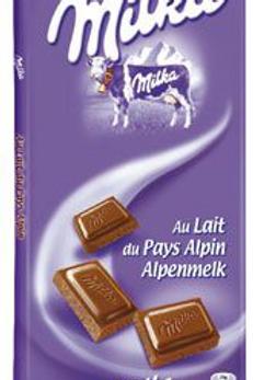 Tablette au chocolat au lait 5 x 100 g Milka