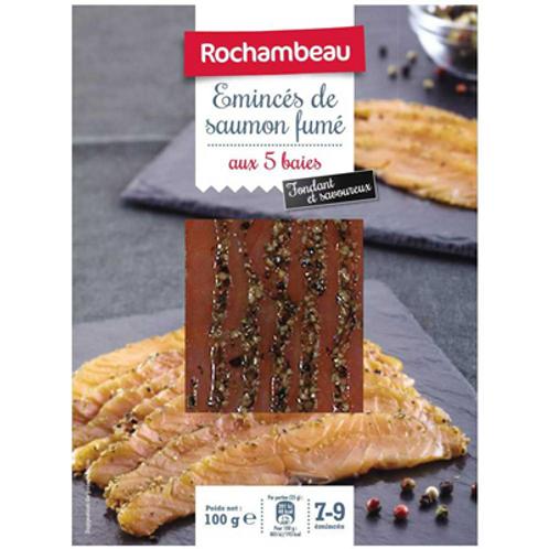 Emincés de saumon fumé Atlantique 5 baies 100 g Rochambeau