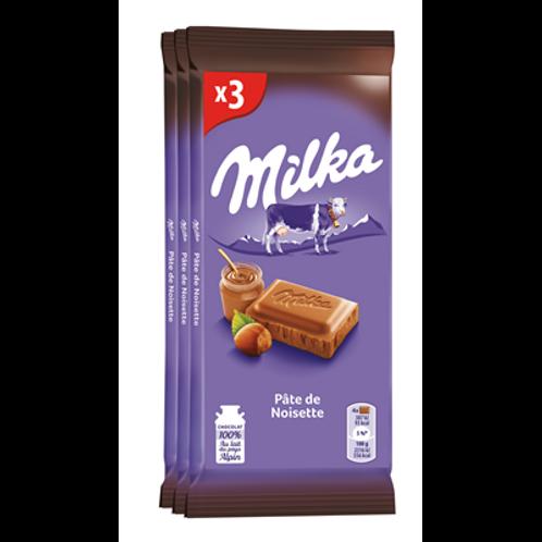 Pâte de noisettes 3 x 100 g Milka