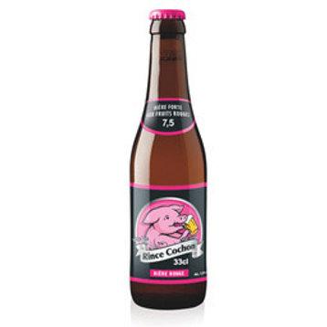 Bière aromatisée aux fruits rouges 7.5° 33 cl Rince cochon,carton de 8 bouteille