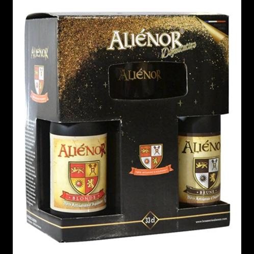 Coffret dégustation 4 bières blonde, brune, blanche, rousse 6° 4 x 33 cl,Aliénor
