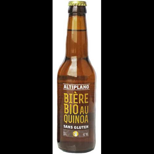 Bière sans gluten 4.5° 33 cl Altiplano, carton de 12 bouteilles