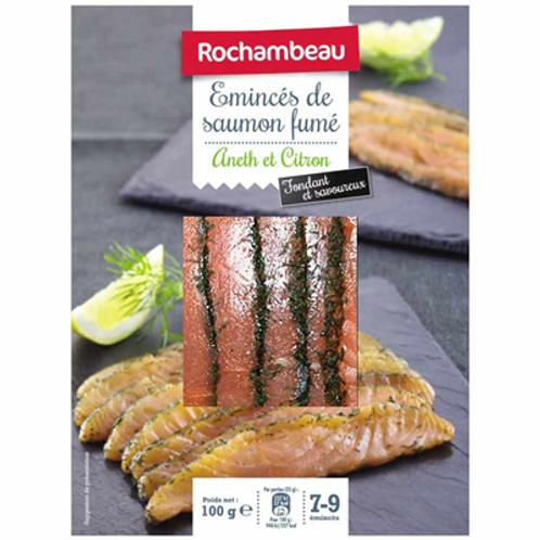 Emincés de saumon fumé aneth et citron 100 g Rochambeau