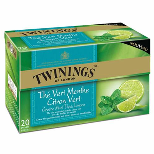 Thé menthe citron vert 20 sachets Twining