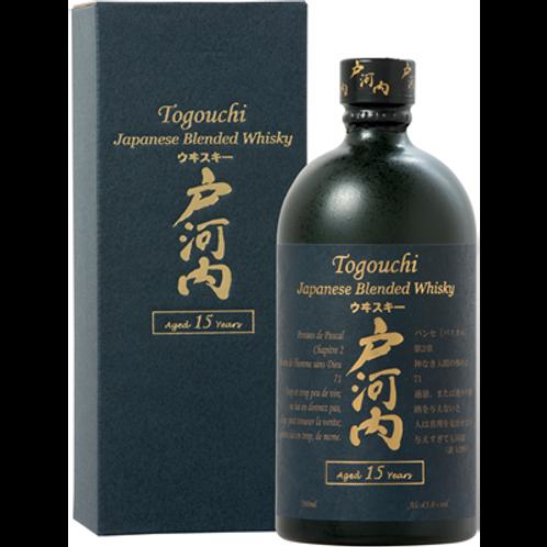 Whisky Togouchi 15 ans 43.8° 70 cl avec étui