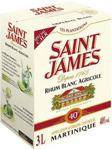 Rhum Saint James blanc 40° 3 L
