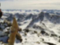 photo du sommet de la serrera en hiver