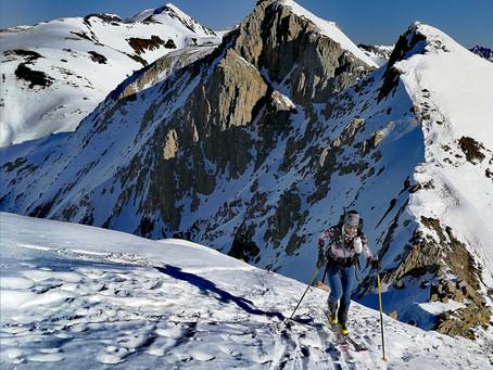 Salida de esquí de montaña en el pic de Casamanya