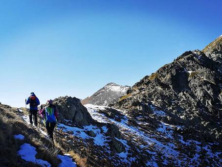 Pic de la Menera con un guia de montaña