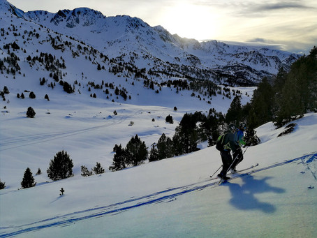 Vuelta d'Andorra en esquí de travesía primera etapa.