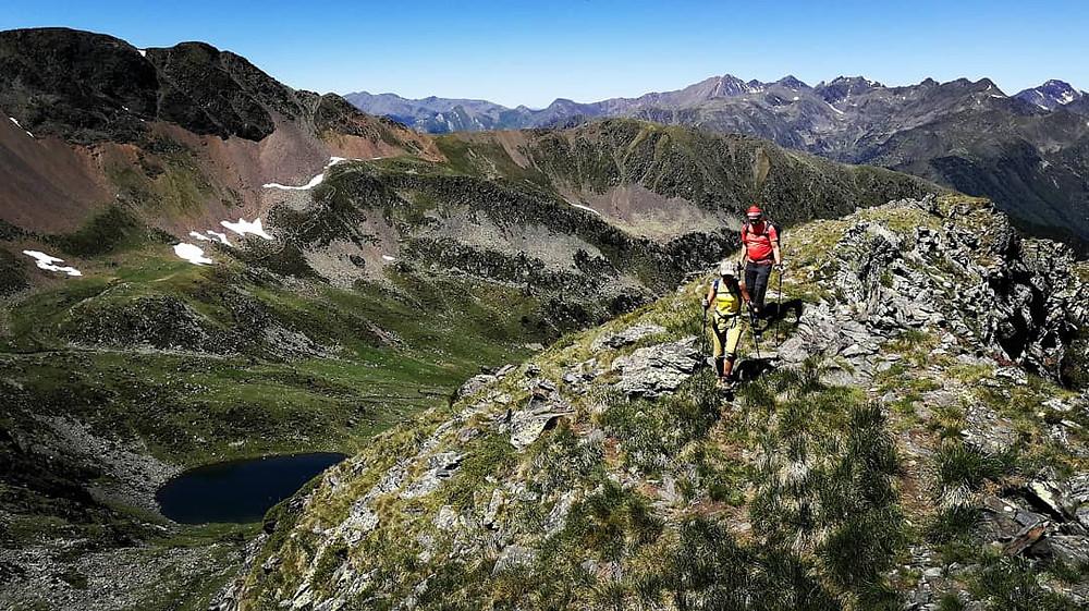 Subiendo al pic del Estanyo con un guia de montaña