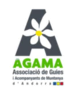 Logo oficial de agama que es la associacion de guias de montaña de andorra
