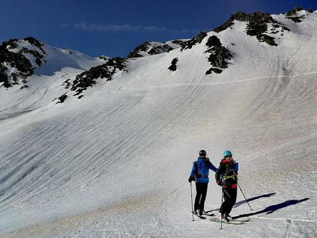 Esquí de montaña por el Maià