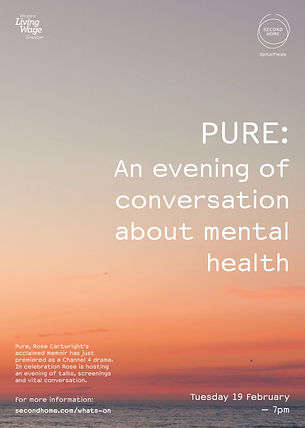 PURE_An evening of mental health_A3 Post