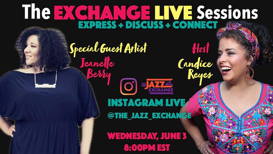 Exchange Live Sessions Jeanette Flyer.pn