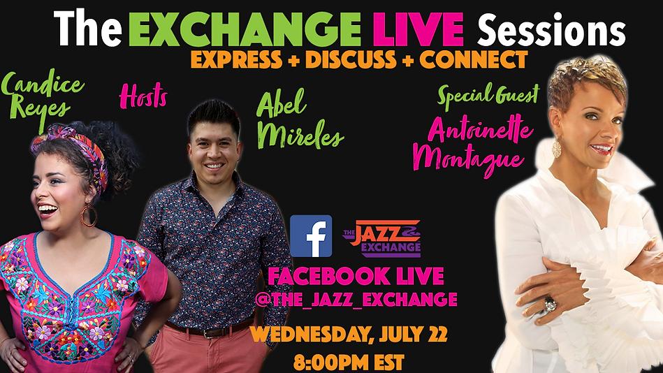 Exchange Live Sessions Antoinette Flyer.