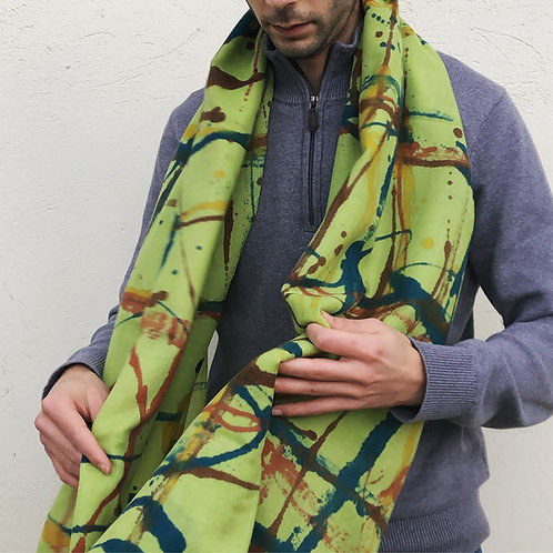 Foulard laine Poll Green