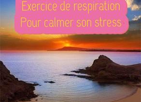 Exercice de respiration pour calmer son stress