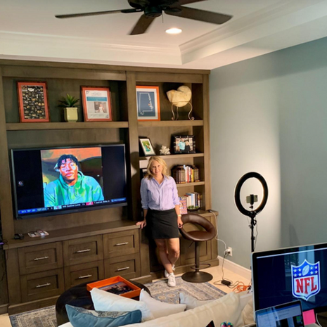 NFL Draft: 100-plus video feeds, and it all revolves around this North Palm Beach woman in her home office