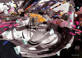 Distopia-acrylic-and-collage-on-paper-21