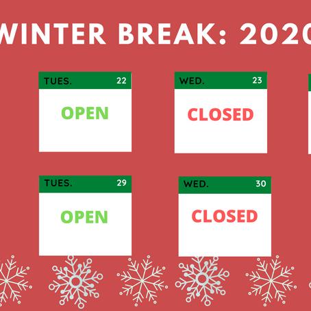 Winter Break Schedule 2020-2021