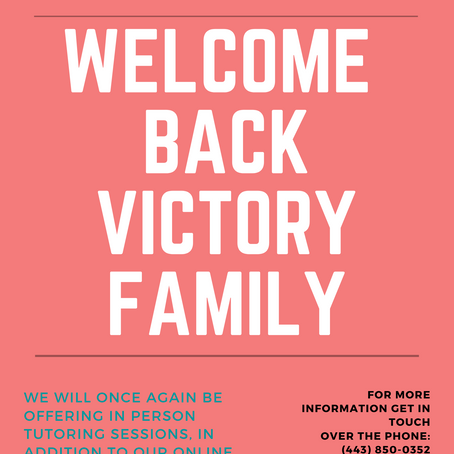 Welcome Back Victory Family