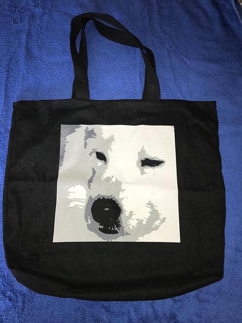 Canvas Sammy Face Tote Bag