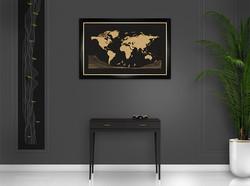 Black frame - black background