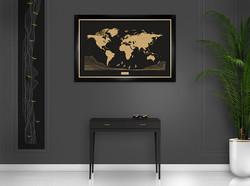 Cadre noir - fond noir