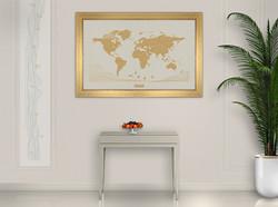 Cadre dorée - fond Ivory