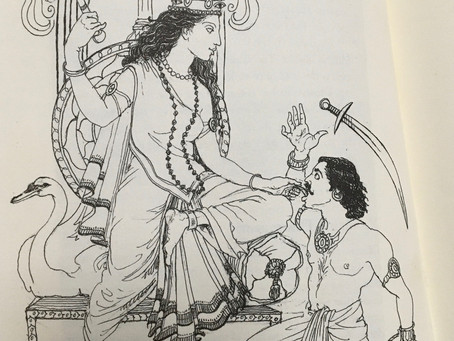 She who wields the power of silence is the Goddess Bagalamukhi.