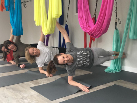 Let's get lifted.   Aerial/Anti-Gravity Yoga has landed!