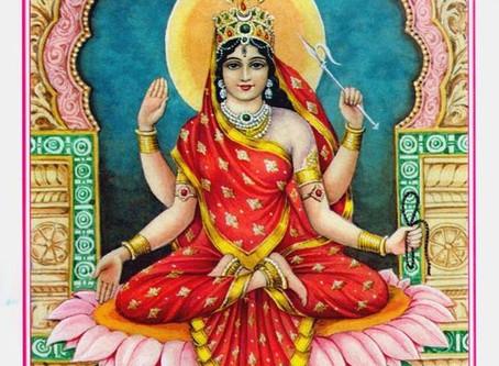 The Goddess whose spacious gaze hosts  the dance