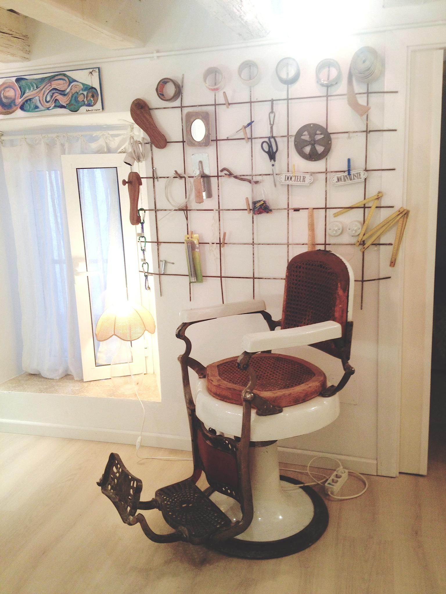 sillón de barbero