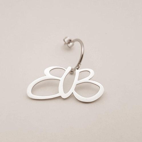 NEW BUB orecchino logo gr acciaio.