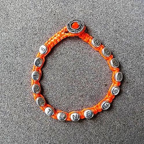 BUB bracciale arancio fluo uomo