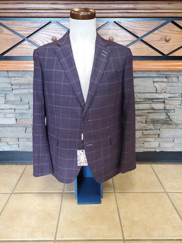 7 Downie Sport Coat (Purple WindowPane)