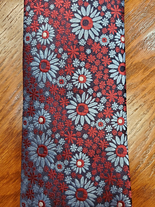 Knotz Tie (Red and Blue Floral)