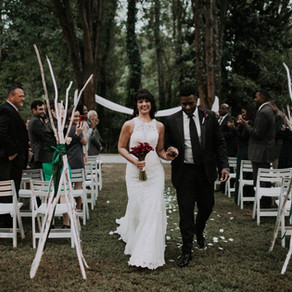 Anna + Rhyan's Moody AF Backyard Wedding