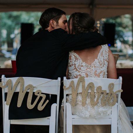 Caitlin + Ryan's Intimate Backyard Wedding