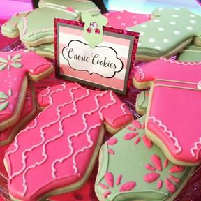 Baby Shower Onesie Cookies La Tea Da By Ruth Los Angeles Dessert Tables